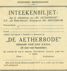 De Aetherbode