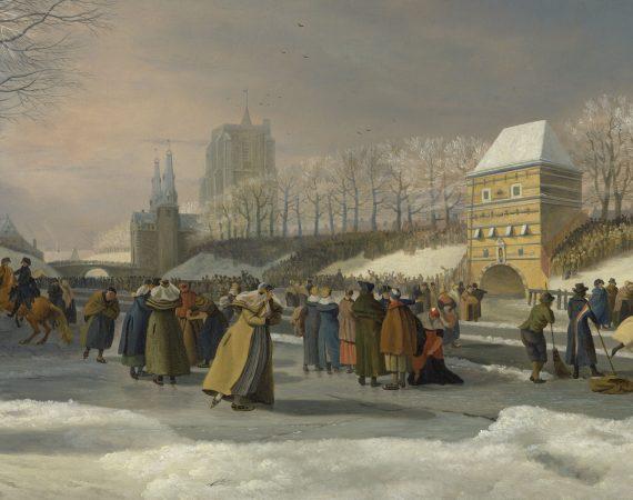De eerste schaatswedstrijden voor vrouwen