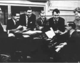 Jeugdige radio-pioniers in het begin van de jaren vijftig
