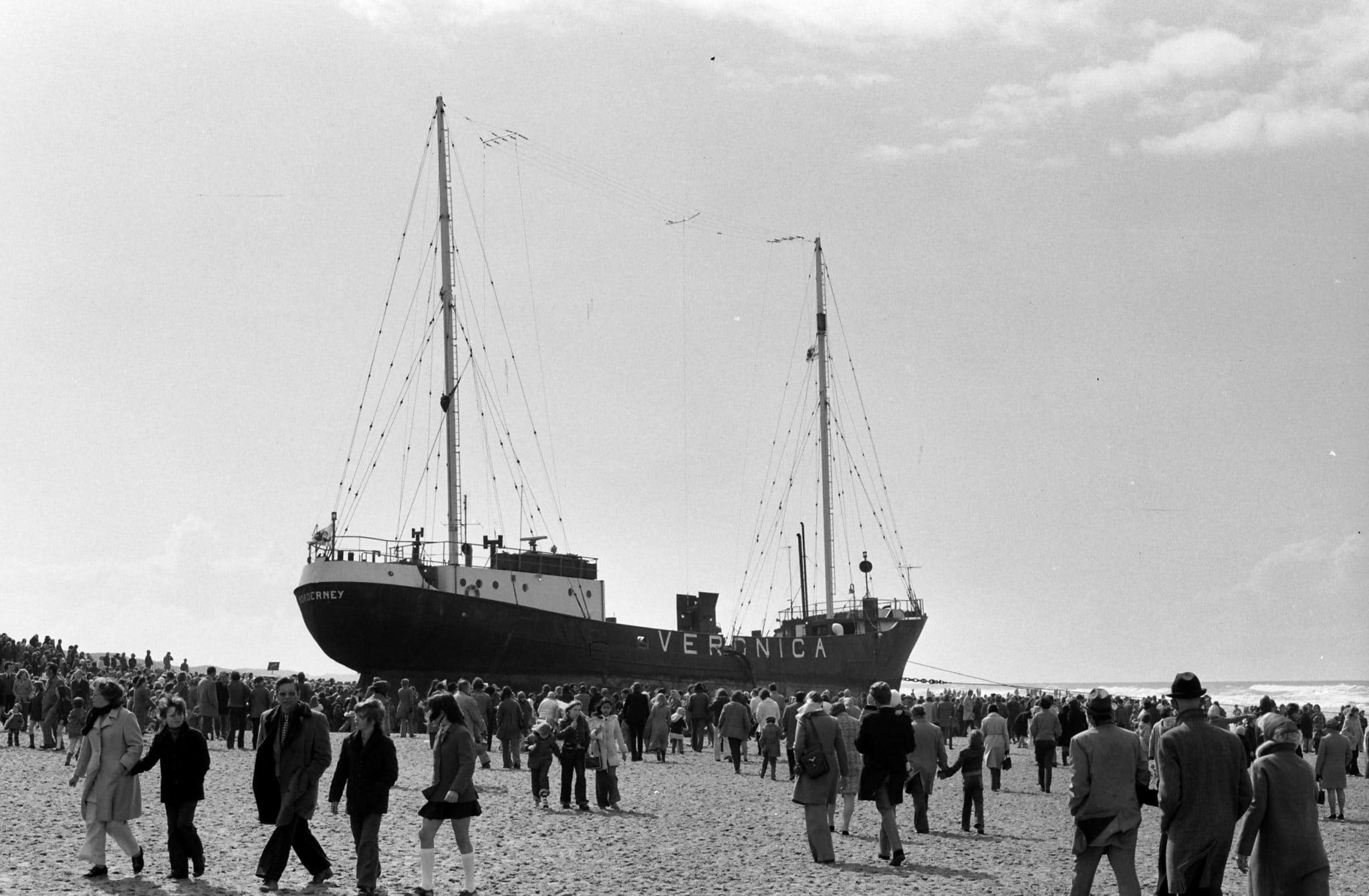 Norderney op strand Scheveningen 1973. Foto: Menno Dekker