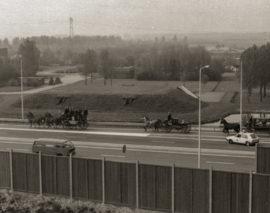 Ingebruikname ringweg bij De Paddepoel in 1979